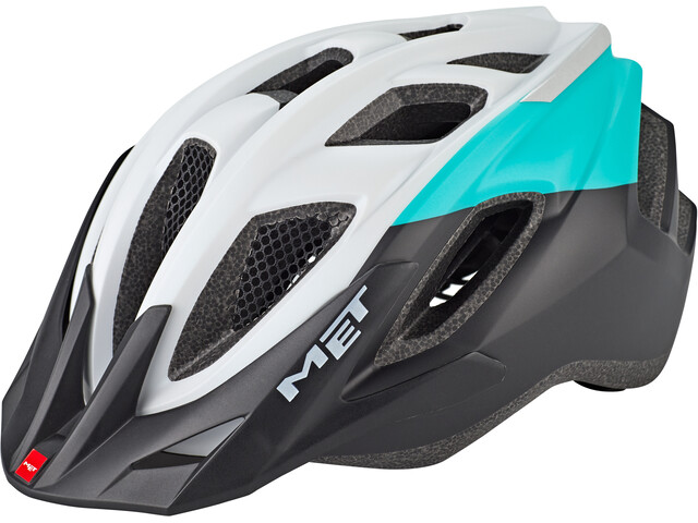 MET Funandgo Helmet emerald green/black/white metallic